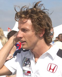Jenson Button in Swindon - September 2004